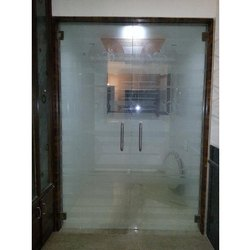 Aluminium and Glass Hinged Office Entrance Door