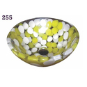White And Yellow Modern Decorative Wash Basin