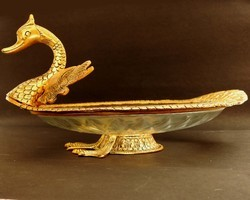 Vintage Gold Plated Tone Duck