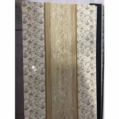 Decorative Single Panel PVC Door