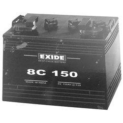 8 V, 150 Ah EXIDE Deep Cycle Battery for golf cart and cleaning machine