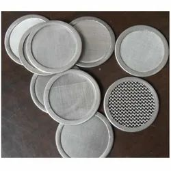 SS304 Woven Wire Mesh Circular Piece, For Industrial