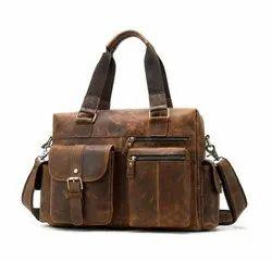 Genuine Leather Travel Handbag For Daily Use
