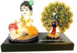 Laddu Gopal With Dancing Peacock