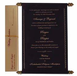 Vintage Model Scroll Wedding Cards