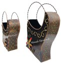 Nirmala Handicrafts Iron Crafted Flower Bucket Set Home And Table Decorative Showpiece