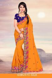Right One Fashion Shrusti Silk Stylish Party Wear Sana Saree
