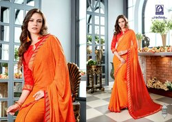 Rachna Georgette Smilez Catalog Saree Set For Woman 2