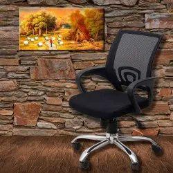 Agronomo Ergonomic Desk Chair Mesh Lumbar Support Modern Executive Rolling Swivel Chair(Black)