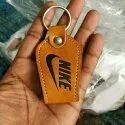 Embossed Leather Key Ring