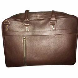 Ferucci Brown Genuine Leather Luggage Bag