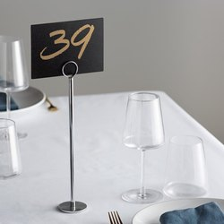 Stainless Steel Table Stand Menu Card Holder