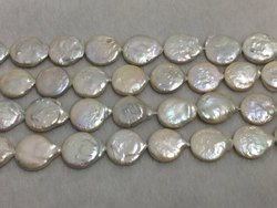 18-5-20 Mm Coin Shape Baroque Freshwater Pearl
