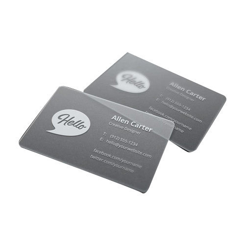 Printed plastic business card rs 4 piece vaanshi creations id printed plastic business card colourmoves