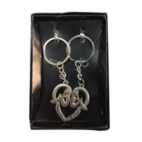 Stainless Steel Heart Shaped Magnetic Keychain
