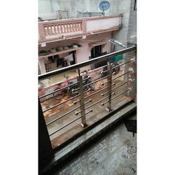 Silver Designer Stainless Steel Balcony Railing