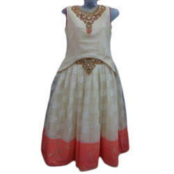 Party Wear Kids Embroidered Indo Western Dress