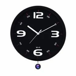 16mp Black Spy Wall Clock Camera, For Security