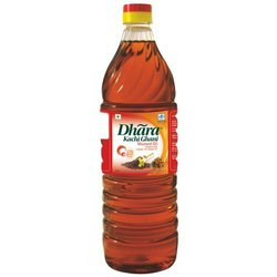 Kachchi Ghani Dhara Mustard Oil, Rich in Omega-3, Packaging Size: 1 litre