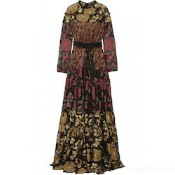 925b618e6dd Casual Ladies Lace Paneled Full Sleeve Maxi