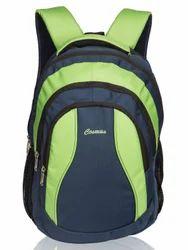 Navy Blue & Parrot Green Storm Laptop Backpack Bag