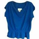 Ladies Blue Knit Top