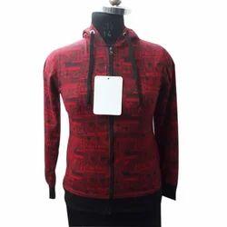 Ladies Zipper Hoodie Sweatshirts