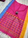 Khadi Cotton Saree With Jamdani Pallu