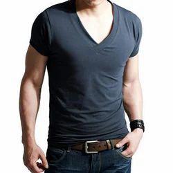 Mens Cotton Half Sleeve V Neck T Shirts