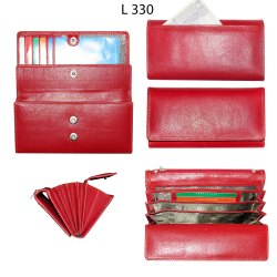 Women Red Compact Leather Wallet