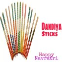 Wooden Dandiya Sticks Three Color
