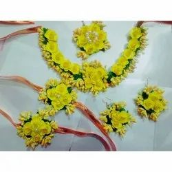 Artificial Yellow Flower Jewelry