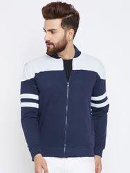 Men Cotton Zipper Sweatshirt