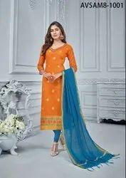 Soft Banarasi Jacquard Zari Weaving Work Suit