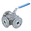 Flanged End MS 3 Way Ball Valves