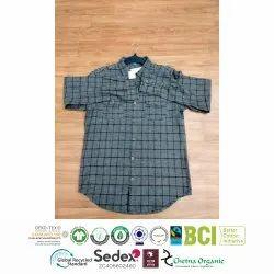 Mens Flannel Shirt Checked Long Sleeve Winter Shirt