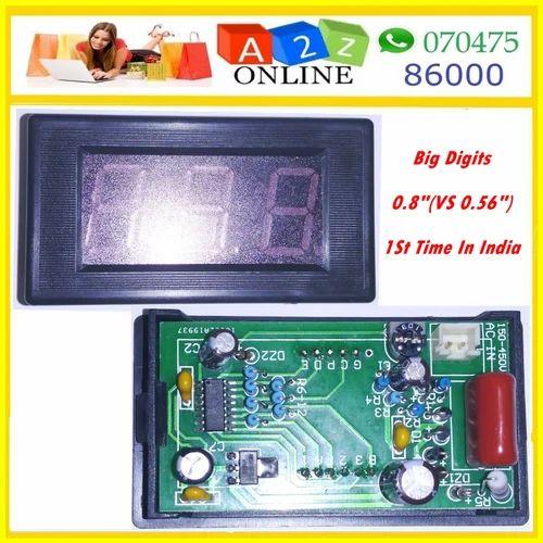 2PCS Mini LED Panel Voltage Meter 3-Digital Adjustment Voltmeter Green