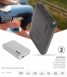 Power Bank-5000 Mah 1Yr Warranty