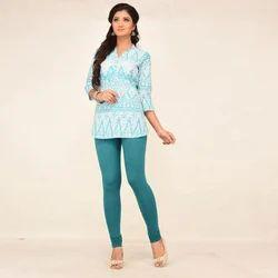 Cotton 96. % Lycra 4% Churidar Ladies Plain Legging