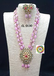CL Jewellery Acrylic Beads Kundan Necklace Set