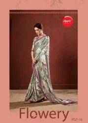 Apple Flowery Vol 3 Crepe Sarees Collection