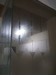 Semi Transparent Designer Office Partition Glass Mirror, Packaging Type: Bubble Wrap, Shape: Flat