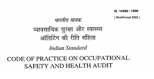 Third Party Safety Audit IS 14489