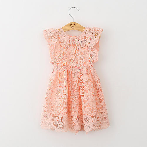 fdfdb4275d05 Cotton Crochet Lace Frocks - View Specifications   Details of Kids ...