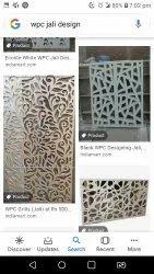 Black Aluminium Wpc Jali, For Residential