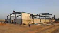 Steel Blue PEB Structure, for Kiosk