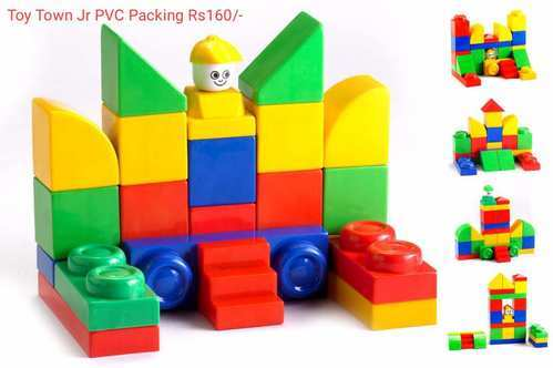 Toy Town Jr Pvc Packing Educational Building Blocks Set For Kids