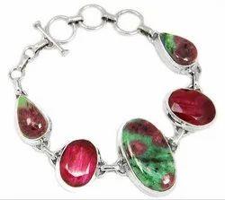 Rubyzosite With Ruby Bracelet Jewelry