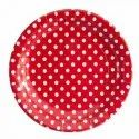Round Dotted Biodegradable Paper Plate