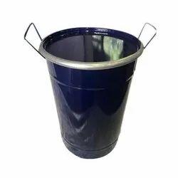 Blue Chemicals Open Top Vertical Mild Steel Drum, Capacity: 10-165 Litres